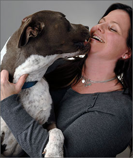 Jill Besemer, DVM, with her dog Emergency Service at VETMED